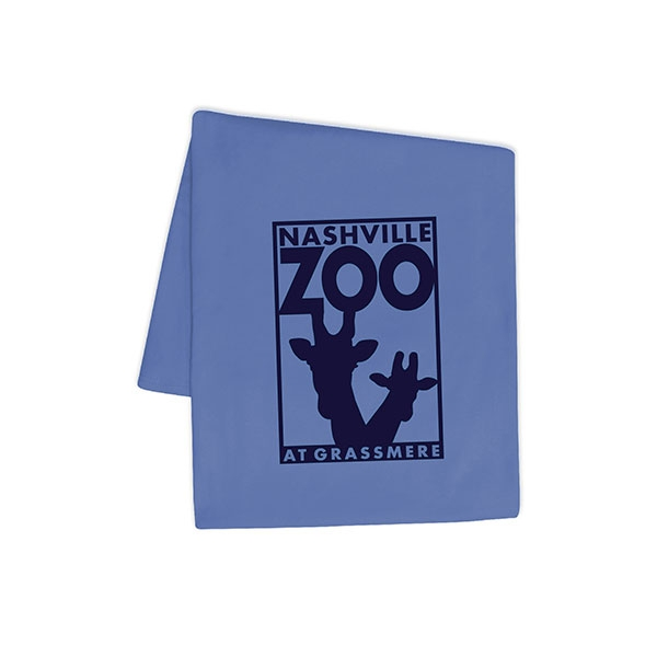 BLANKET LOGO COLUMBIA BLUE