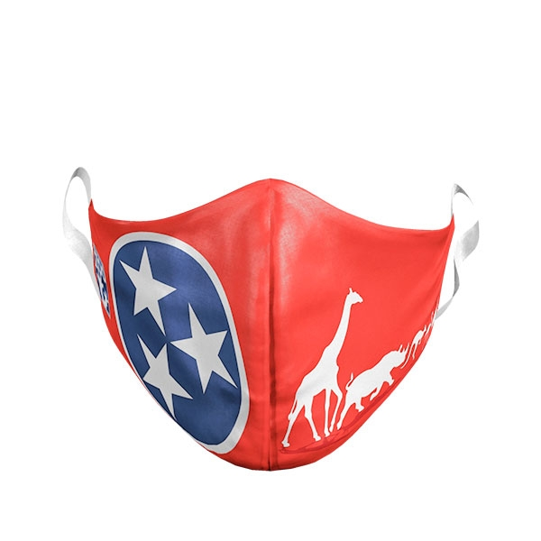 ADULT TENNESSEE FLAG ANIMAL MASK