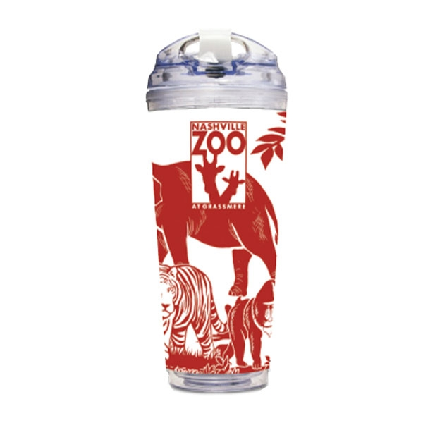 TUMBLER LOGO ANIMAL COLLAGE RED