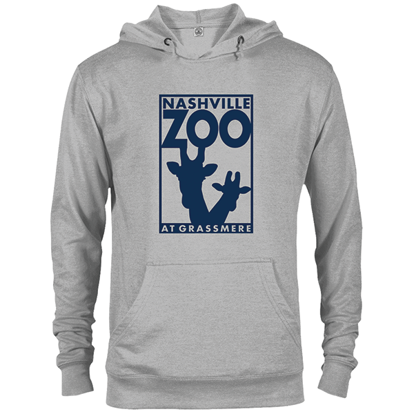 ADULT HOODED SWEATSHIRT LOGO HEATHER GREY