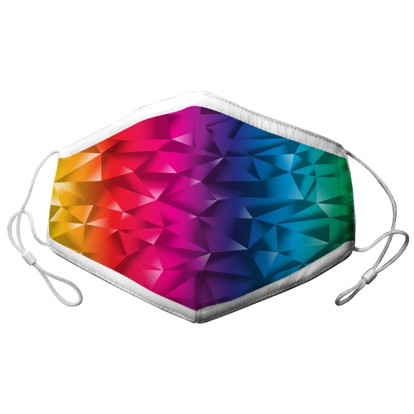 ADULT ADJUSTABLE RAINBOW GRADIANT FACE MASK