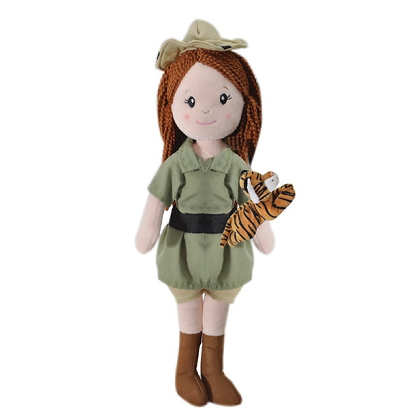 ZOOKEEPER DOLL WITH TIGER PLUSH