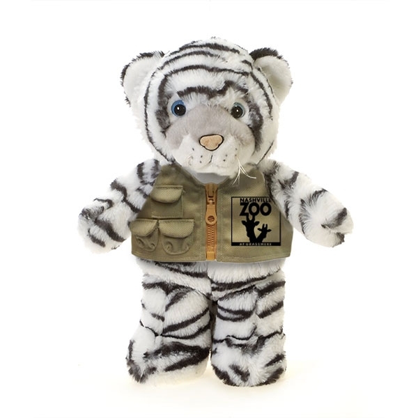 WHITE TIGER PLUSH WITH NASHVILLE ZOO VEST