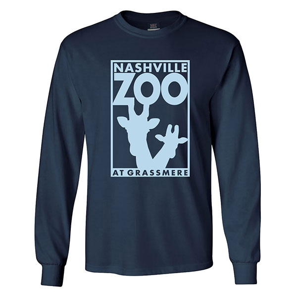 ADULT LONG SLEEVE TEE LOGO NAVY