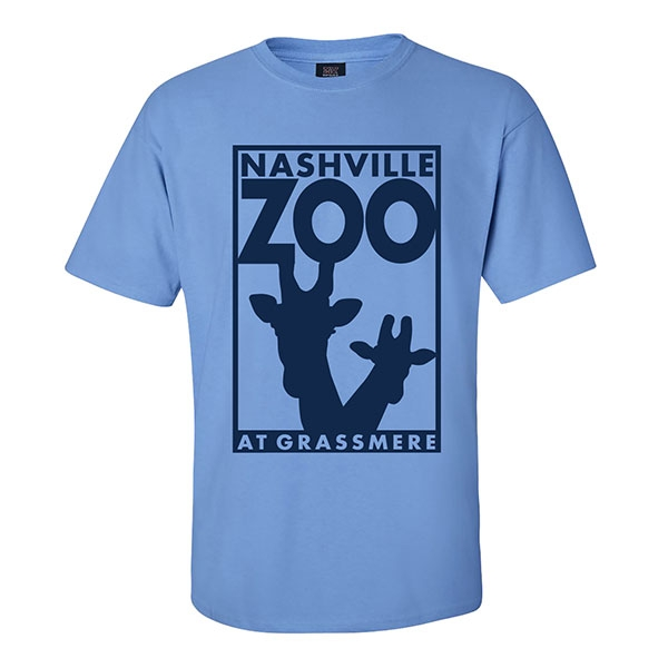 ADULT SHORT SLEEVE TEE LOGO COLUMBIA BLUE