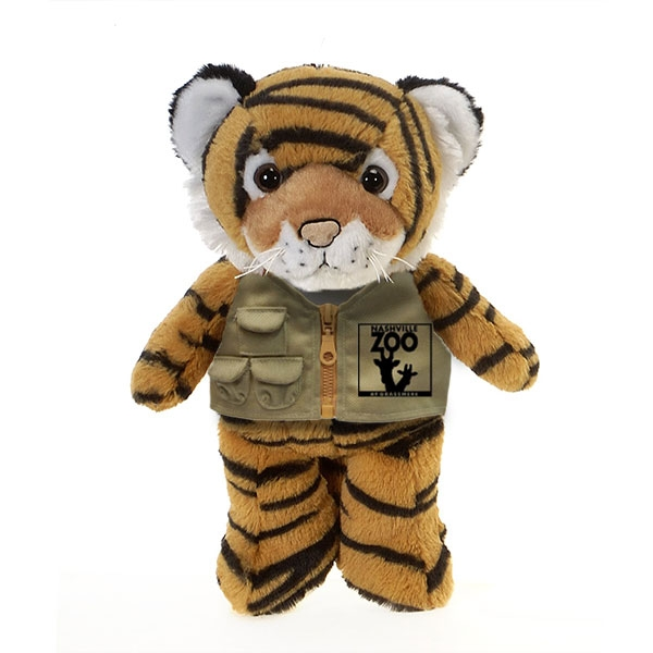 TIGER PLUSH WITH NASHVILLE ZOO VEST