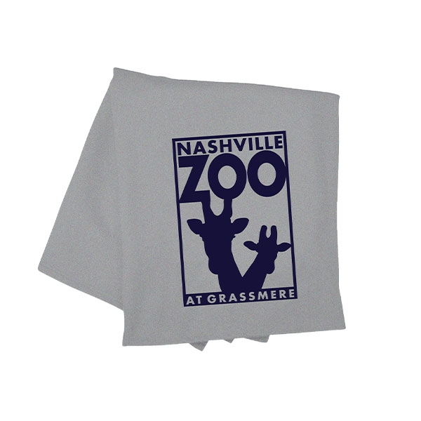 BLANKET LOGO HEATHER GREY
