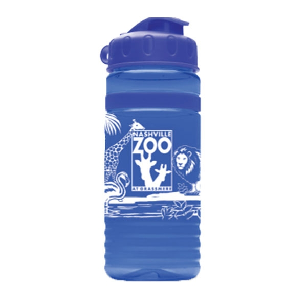 SPORT BOTTLE LOGO ANIMAL COLLAGE BLUE