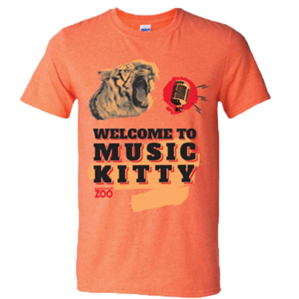 ADULT SHORT SLEEVE TEE MUSIC KITTY PARODY