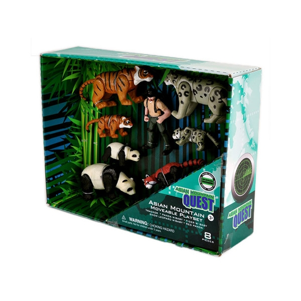 ASIAN MOUNTAIN QUEST MOVEABLE ANIMAL PLAYSET